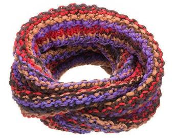 Womens Knitted Cowl Scarf Chunky Merino Wool