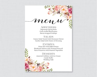 template wedding menu