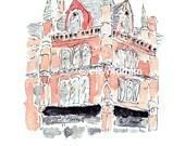 Dublin - 12 bland Street South Great George's Street - Illustration A4