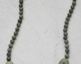 Green Jasper Beaded Necklace