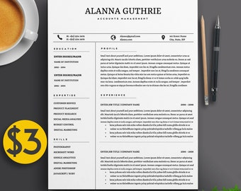 professional 2 page resume template cv 2 cover letters a4 us letter