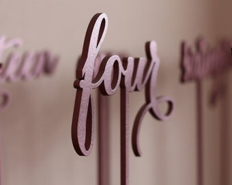 Rose gold Table Numbers - Freestanding -  Wedding Table Number - Golden table numbers - Table Number