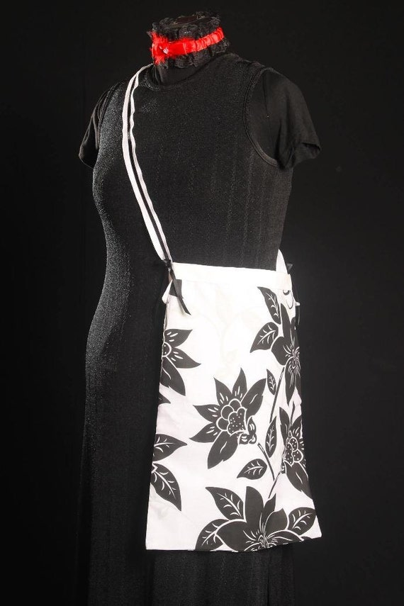 Classic Black and White Floral Bag