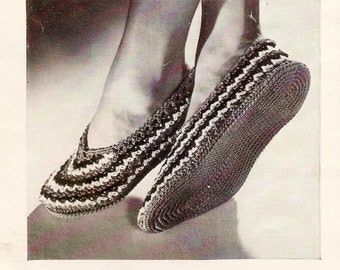 Vintage Ballet Slippers Crochet Pattern