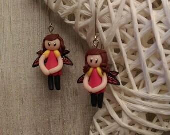 Miniature fimo earrings.