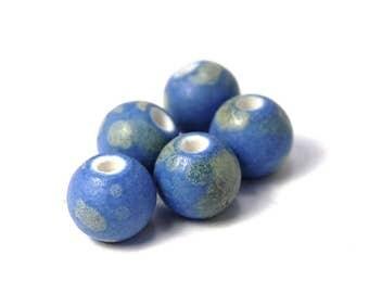 50pc Blue Porcelain, 9mm