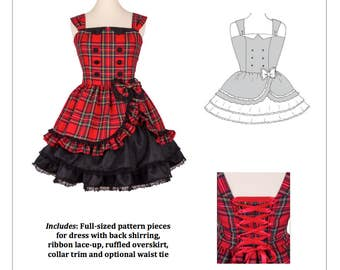 PDF L-3X Lolita Sewing Pattern: #1170 Little Betty JSK