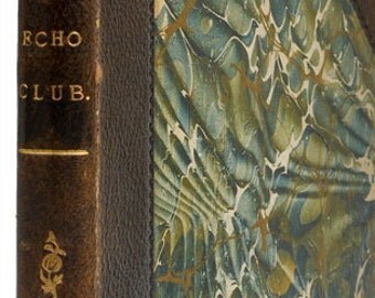 Diversions of the Echo Club (Victorian) Antique book for decoration. (Brown and Green)
