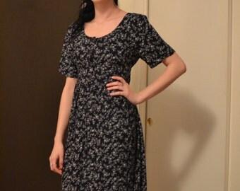 Vintage 90's Long Floral Dress