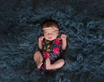 Newborn girls romper / photography prop