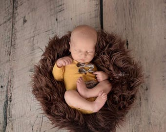 Newborn boys romper / photography prop