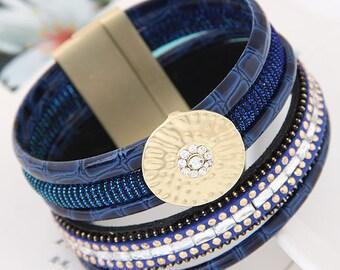 Vegan Leather Bracelet, Vegan Leather Jewelry, Vegan Jewelry, Vegan Bracelet, Vegan Cuff Bracelet,Faux Leather  Bracelet, Faux Bracelet,
