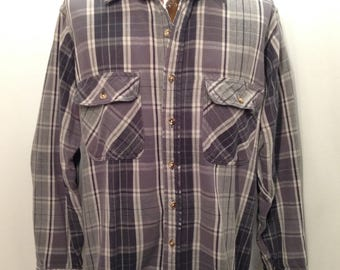 90s FIELD & STREAM Flannel Shirt / Retro Grunge Hipster Flannel Grey Durable Hunting Fishing Hiking Vintage FLANNEL Shirt Mens Large