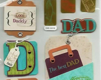 Dad Tags Chipboard Stickers Forever In Time Scrapbook Embellishments Cardmaking Crafts