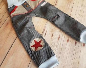 Täschling maritim jeans pants 98-170 star red Baker jeans, pinstriped, denim, pants, sale, Kids pants, pants for children, blue, Star