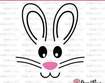 Bunny Face SVG Digital Cut File