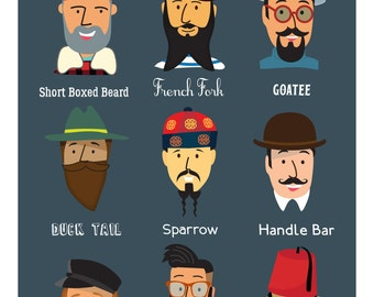Beardy Man Guide Print