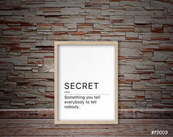 secret print, secret art, secret gift, friends scret gifts, friends gifts, friends print  #FD009