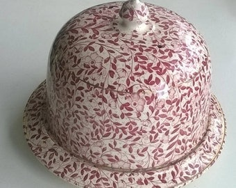 vintage chintz patterned Stone Ware Cheese Dish.