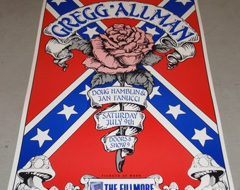 Bill Graham Presents Gregg Allman at The Fillmore Concert Poster