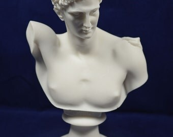 Hermes sculpture bust ancient Greek God conductor of souls into the afterlife