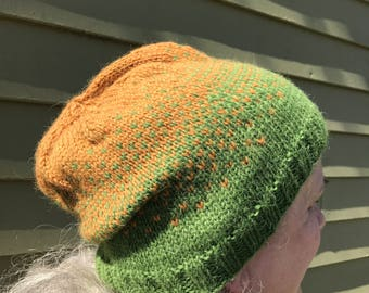 Green Ombre Slouch Hat
