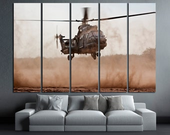 Helicopter Wall Art Helicopter Canvas Print Helicopter Canvas Art Helicopter Poster Helicopter Wall Decor Helicopter Panel Art Helicopter