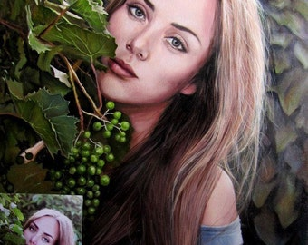 Custom Portrait, Portrait from photo, Hand Painted Oil Portrait, Painting Art, Realism, Original Art,  Custom Oil Painting On Canvas