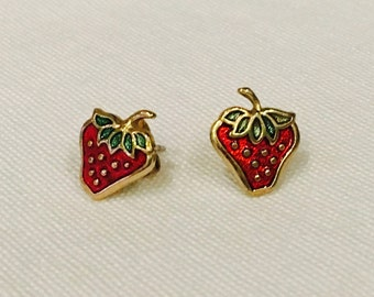 Vintage Avon Strawberry Earrings
