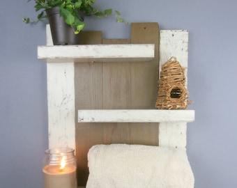 Reclaimed Wood Rolled Bath Towel Rack U2013 Rustic Bathroom Over The Toilet  Storage U2013 Thick Rustic