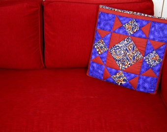 Native American Pattern CUSHION and BLANKET in one, American Quilt Patchwork, Native American Blanket, Decorative Cushion, Southwest Style