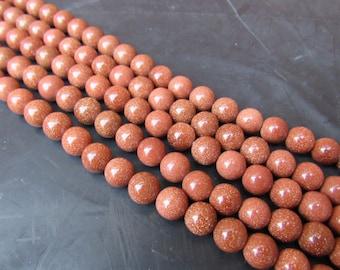 10MM GOLDSTONE BEADS / gemstone
