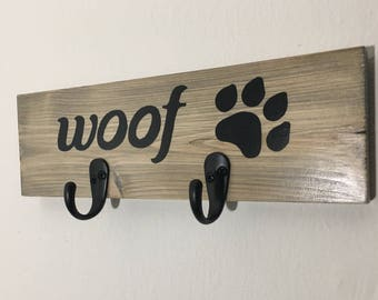 Dog Leash Holder, Dog Leash Hook, Dog Leash Hanger, Custom Pet Leash Holder, Personalized Leash Hook, Dog Gifts, Gift for Dog Lover