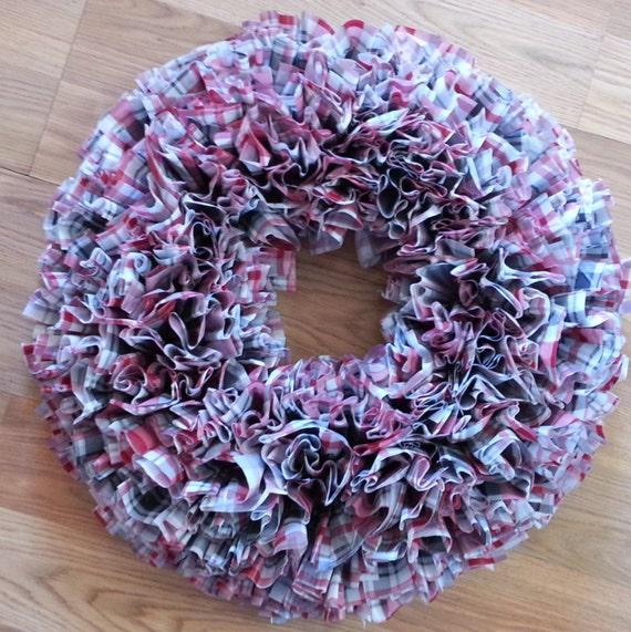 plaid wreath home decor wreath indoor outdoor wreath wall On indoor wreaths home decorating