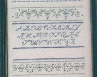 Cross Stitch,Embroidery,Finished Cross Stitch,Complete Cross Stitch,Cross Stitch Sampler,Alphabet Sampler,Finished Embroidery,Needle Work