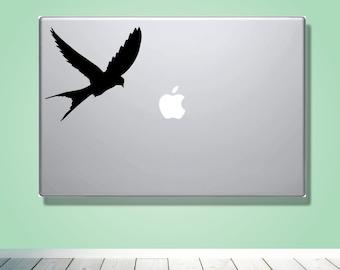 Laptop Macbook VINYL DECAL - Swallow - Custom laptop Decal for him her boyfriend girlfriend friend  - Love Vinyl Decal