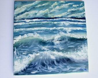 Sea waves Original Oil Painting