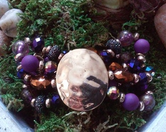 Purple Bohemia Layered Bracelet