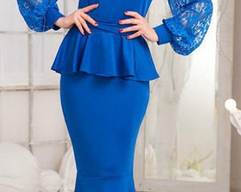 Long blue dress in the floor for all occasions .Maxi dress.  Wonderful dress. Fancy dress.