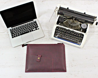 MacBook sleeve/Leather MacBook sleeve/computer sleeve/gift for coworker/gift for women/laptop holder/leather case/MacBook 12 cover/sleeve
