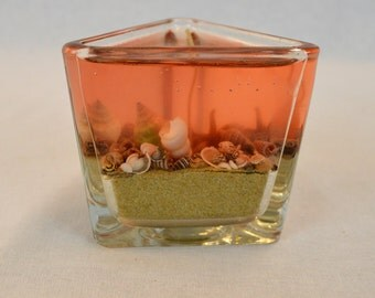 Coral Shell Gel Candle