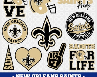 New Orleans  Svg Files, Football Clipart, Svg Cameo,Saints Football, Cricut Files, Football Svg Designs, Screen Printing, SVG-31