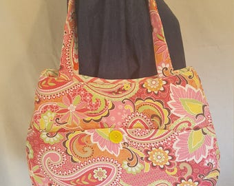 Reversible Paisley & Chevron Purse