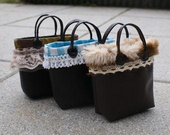 Faux Leather & Cotton Bag For 1/3 SD BJD