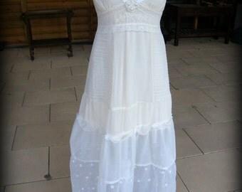 Boho Wedding Dresses Bohemian Rustic Wedding Beach Wedding Dress Eco Friendly alternative Wedding Hippie Wedding Dress Casual Wedding Dress
