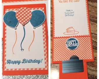 Birthday Gift Card Holder