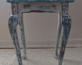 Vintage Hand Painted Small Side Table