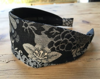 Kobayashi Fabric, womens headband, blue and white, gift for her, alice band, hair accessories, cotton fabric