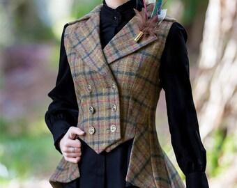 Lady Mary Waistcoat in Glencoe Tweed