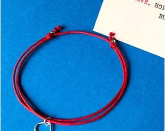 Heart Charm Bracelet. Sterling Silver Charm. Friendship Bracelet. Keep It Simple!
